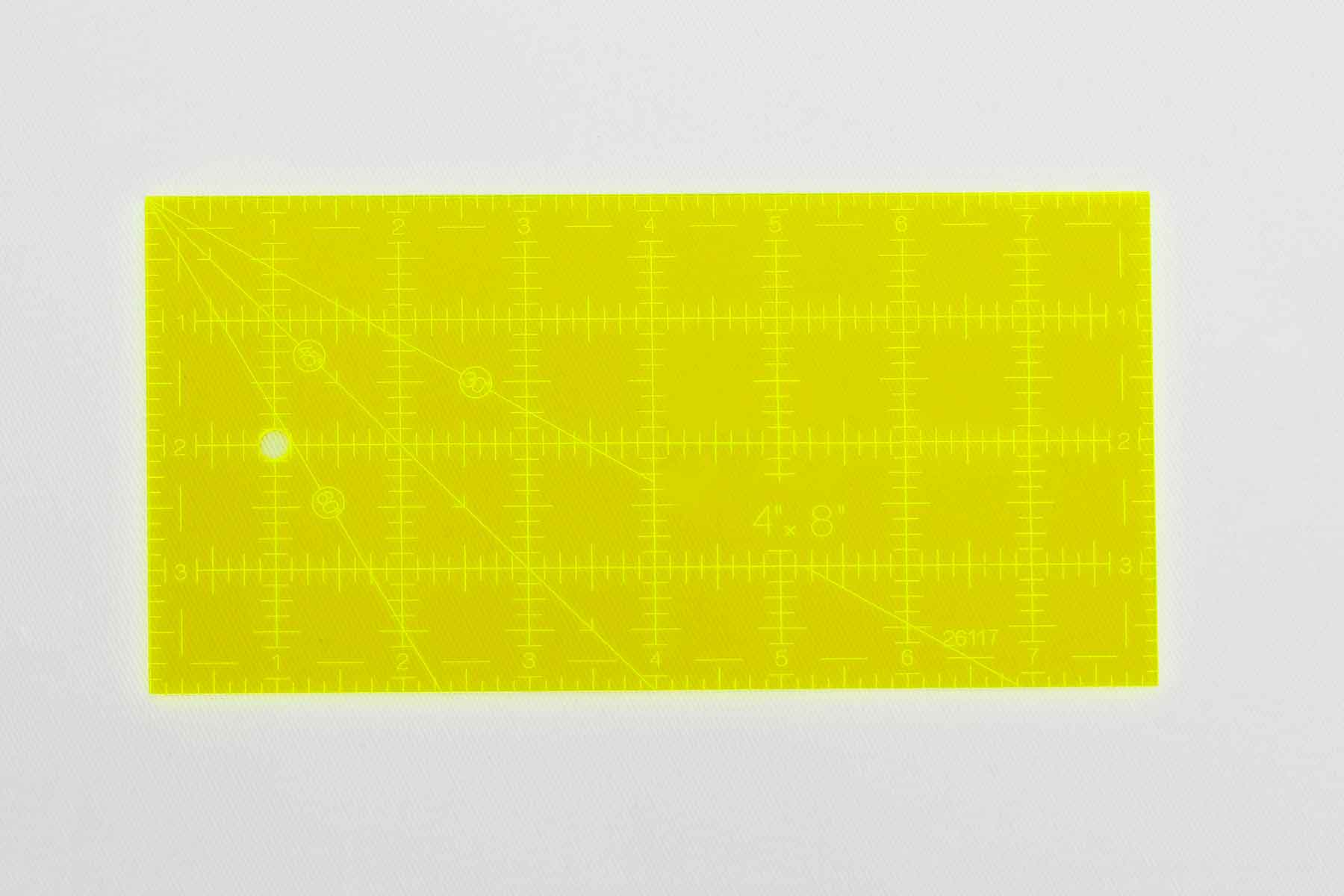 Régua Retangular 4 x 8 polegadas