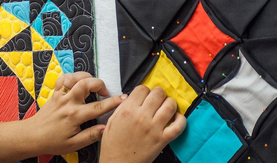 Patchwork moderno III: montando um quilt sampler